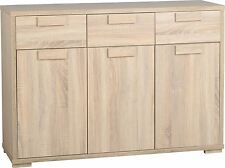 Cambourne Sonoma Oak Living Room Bedroom Furniture. 3 Door Sideboard