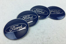 4Pcs 65mm Car Wheel Center Hub Caps emblem sticker Accessories for Ford Blue