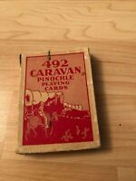 Vintage 492 Caravan Pinochle Playing Deck of Cards With Box