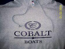 Cobalt Boats Screen Printed Oxford Hooded Sweatshirt 9.5 oz. Heavy 50/50s