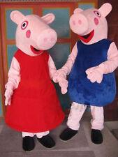 Best High Quality New 2016 PEPPA PIG Mascot Costume Adult Free Shipping!