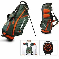 Team Golf NCAA University of Miami Hurricanes Stand Golf Bag