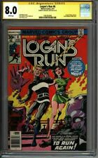 * LOGAN'S Run #6 CGC 8.0 Signed Mike Zeck 1st solo THANOS! (1961003006) *