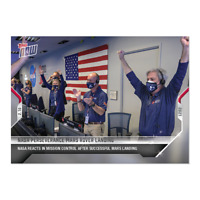 Nasa Perseverance Mars Rover Landing Mission Control Reacts - Topps Now Card #2