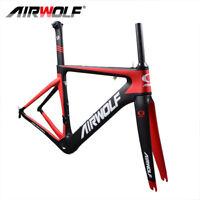 700C BSA T1000 Aero Carbon Frame Road Bike Racing Bicycle Frameset 48/51/54/56cm