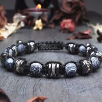 New Bracelet Style Shambala Homme/Men's perles Pierre Agate Bois Coco Hématite