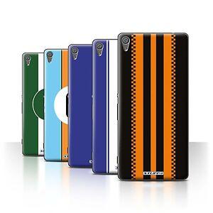 STUFF4 Back Case/Cover/Skin for Sony Xperia XA/Racing Car Stripes