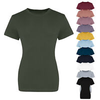 AWDis Just T's Womens The 100 Girlie Plain Short Sleeved T-Shirt Tee Top
