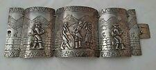 Engraved SILVER Cuff   Bracelet