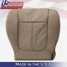 DRIVER BOTTOM PERFORATED Leather Seat Cover Camel Tan 2009 2010 Ford F150 Lariat