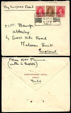 INDIA KG6 1940 SURFACE MAIL SLOGAN ADVERT...CORSTORPHANS HOTEL SIMLA