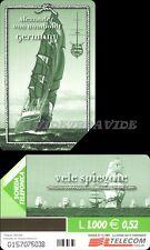 SCHEDA TELEFONICA - VELE GERMANIA A. VON. UMBOLDT - C&C F3205 GOLDEN 1128- USATA