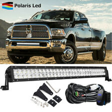 "30"" LED Light Bar Bumper Mounting /w Rocker Wiring For 03-18 Dodge RAM 2500 3500"
