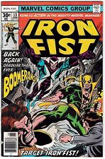 IRON FIST #13 VF+ Living Weapon! Boomerang Appearance! Sabretooth Cameo? Netflix