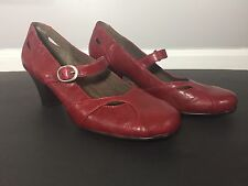 A2 by Aerosoles Marimba Women's Size 8 Mary Jane Dress Pump Brown Interior Red