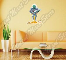 "Alien UFO Green Outer Space Bug Monster Wall Sticker Room Interior Decor 18""X25"""