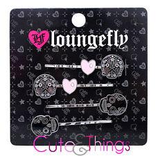 Black Sugar Skull Flowers Hair Pin Set by Loungefly