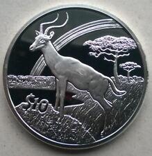 Sierra Leone 2006 Antelope 10 Dollars Silver Coin,Proof