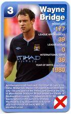 Wayne Bridge-Manchester City Football Club ofertas especiales Top Trumps tarjeta (C461)