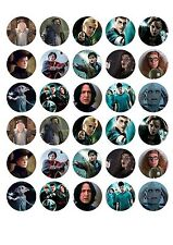 30 x EDIBLE HARRY POTTER  CUPCAKE TOPPERS