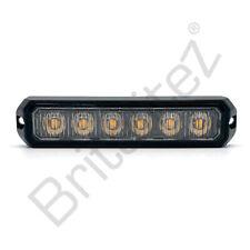 Amber 6 LED Warning Light Flashing Strobe Warning Lamp 12/24v R65 R10