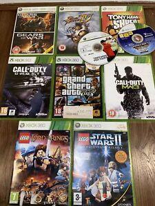 Xbox 360 Games Bundle/Job Lot X10- Lego GTA Call Of Duty Streetfighter Minecraft
