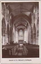 LINLITHGOW Interior of St Michaels Church SCOTLAND Vintage Photo PC c1910s