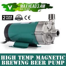 MKII High Temp Magnetic Drive Pump for Homebrew Beer Wine Winemaking