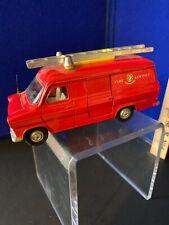 Vintage Dinky Toys Ford Transit Van Fire Service W/Ladder Diecast & Original Ax!