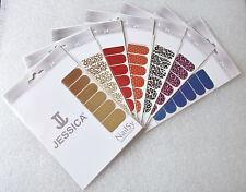 7 CONFEZIONI x 24 Jessica nailsy PROFESSIONAL NAIL FOIL WRAPS Misto Colori Metallici/STAMPE