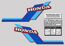 ATC 70 1984 Tank Stickers warning and advice set Honda Trike