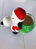 Hallmark Peanuts Christmas Snoopy as Santa Ceramic Candy Dish Bowl NEW
