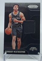 Quinndary Weatherspoon 2019-20 Panini Prizm Relic Jersey Rookie RC ( Spurs )