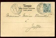 Austria Levant Imperio Otomano 10pa/5h Jerusalén oficina de correos de Jaffa 1903 PPC