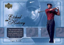 2004 Upper Deck Tiger Woods Etched in History #42 Golf Card