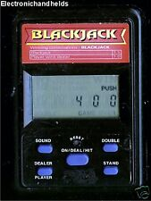 BLACKJACK ELECTRONIC HANDHELD MINI POCKET TRAVEL LCD GAME BLACK SMALL TINY BABY