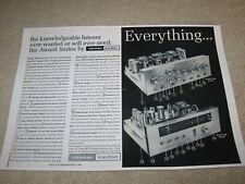 Harman Kardon A500, F500 Amp, Tuner, 2 pgs, Info, 1961