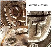 2019 - MULTIPLE DIE CRACKS LINCOLN SHIELD CENT MINT ERROR #6064