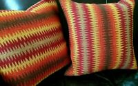 Vintage Throw Pillow Woven Chiefs Blanket Design Tribal Ralph Lauren Look