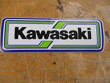 "New NOS 1970'S Vintage Kawasaki 4 ""  ""Kawasaki"" Decal Bumper Sticker"
