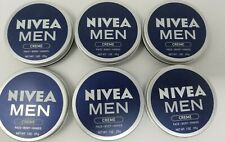Nivea Men Creme Face Body Hands Skin Care 1oz Lot Of 6 Brand New Travel Size