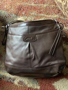 NWT Coach Park Brown Leather Duffle CrossbodyBag F19726