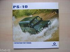 Santana PS-10 Civil 5-portes, Pick-up, Militaire Prospekt / Brochure, F, 2006 ?