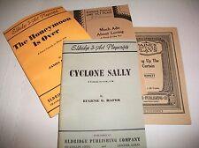 VINTAGE ELDRIDGE OHIO DENVER PLAY PLAYS LOT OF 4 SMALL BOOKS 1929 AND NEWER