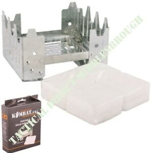 ARMY HEXI COOKER 8 HEXAMINE FUEL BLOCKS RATIONS PORTABLE COOKING STOVE CAMPING