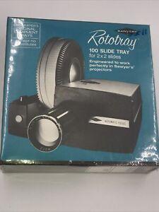 "SAWYERS ROTOTRAY 2"" X 2"" 100 PHOTO SLIDE CAROUSEL TRAY vintage camera projector"