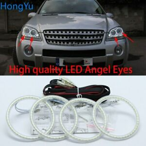 SMD led Angel Eyes Halo Ring For Mercedes Benz M Class W164 ML350 ML500 2006-07