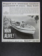 1960 Starcraft Bonanza Aluminum Runabout Boat photo vintage print Ad