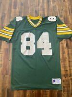 Vintage Champion Athletic Blank Green Bay Packers Jersey #84 Sharpe Schroeder 44