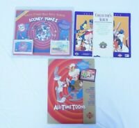 Lot of Looney Tunes Collector's Albums & Comic Ball Card Set Upper Deck MLB 1996